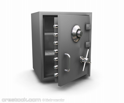 3D render of a bank safe