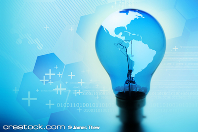 World in a light bulb.